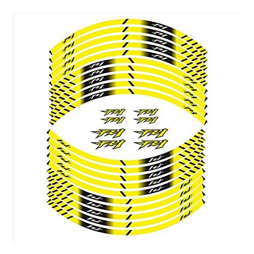 Protector DE Tanque Moto para Yam-AH-A FZ1 FZ1 FZ 1 Etiqueta De Rueda Motocicleta Etiqueta De Rueda Impermeable Reflectivos Rim Neumático Pegatina Etiqueta Calcomanías (Color : 2)