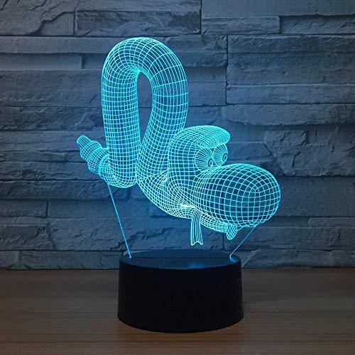 Snake Led 3D Lampe Tier 3D Visual Nachtlichter für Kinder Remote Touch USB Tisch Lampara Lampe Baby Schlaf Nachtlicht Kinder Geschenk Schlafzimmer Dekoration