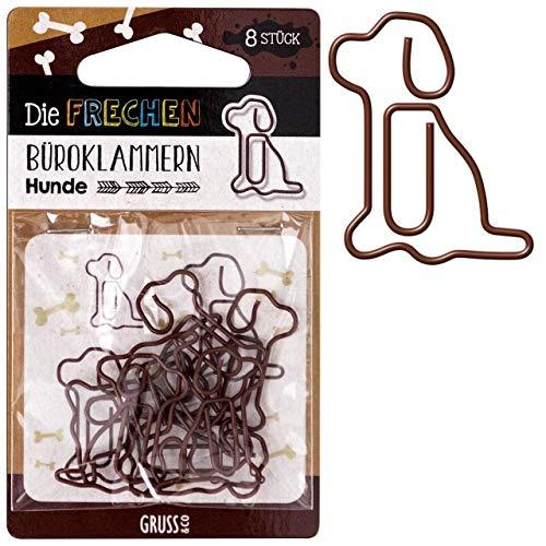 Sheepworld - 45715 - Büroklammern 8 Stk, Hund, Metall, 11,3cm x 5,7cm
