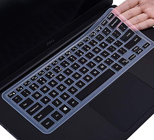Keyboard Cover Protector Skin for DELL XPS 15-7590 15-9570 15-9550 15-9560 15.6' Laptop, DELL Precision 5510 5530 5540 M5510 15.6 inch (NOT fit DELL XPS 15 9575), Black