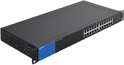Linksys Business LGS124 24-Port Rackmount Gigabit Ethernet Unmanaged Network Switch I Metal Enclosure