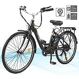 HITWAY 26'Elektrofahrrad für Erwachsene, E-Bike mit austauschbarer 250W Motorbatterie, 3 Fahrmodi,...