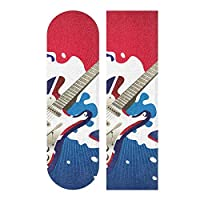 "UKギタースケートボードグリップテープシートアンチスリップロングボードグリップテープバブルフリー33""X 9""ユースボーイズガールズキッズ(1個)"