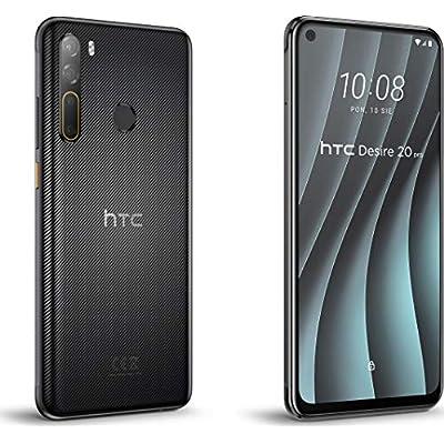 Teléfono HTC Desire 20 Pro, Color Negro (Black), 128 GB de Memoria Interna, 6 GB de RAM, Dual SIM, Cámara trasera de 48+8+2+2 MP. Pantalla de 6,5\