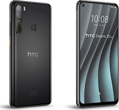 HTC Desire 20 pro Smartphone (6,5 Zoll HD+ IPS-, interner 128GB Speicher und 6GB RAM, Dual-SIM, Android 8) Onyx Black