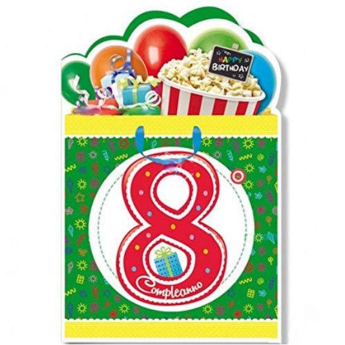 Cromo Biglietto Di Auguri Compleanno 8 Anni