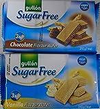 Wafer senza zucchero Gullon Vaniglia 210g e Cioccolato 210g