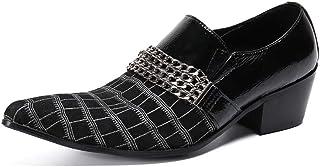 YOWAX Zapatos de los Hombres Zapatos de Cuero Unisex de la Serpentina para la Formal, Casual, Oficina, Fiesta, Zapatos de ...