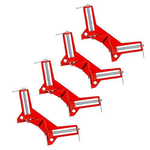 GWHOLE クランプ コーナー 4個 セット 90° 直角 木工定規 直角定規 固定板幅 75mm以下