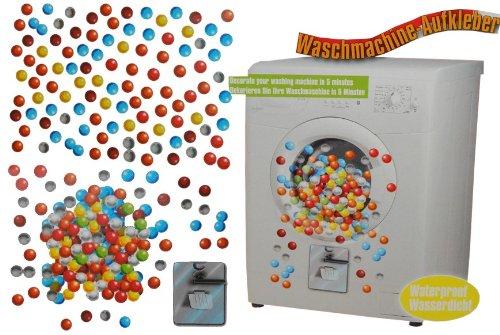 alles-meine.de GmbH Aufkleber - z.B. für Maschmaschine / wasserfest - Bunte Kugeln 200 Stück - Sticker Tattoo Waschmaschinen Deko - Badezimmer