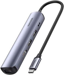 CMDZSW USB C Hub Mini Dimensione USB Tipo USB C 3.1 a 4k HDMI RJ45 PD USB 3.0 Adattatore OTG Adattatore USB C Dock per Mac...