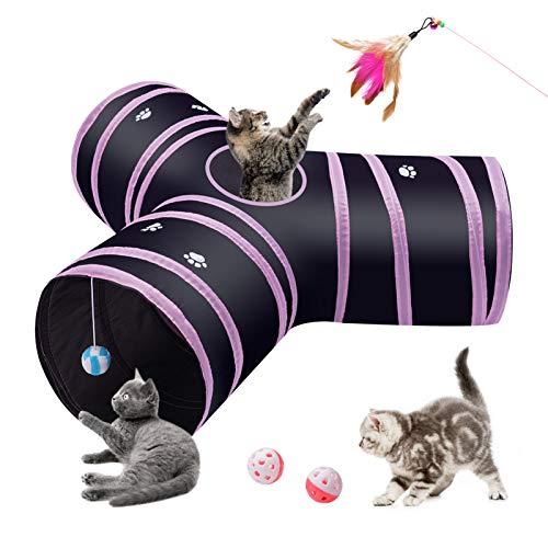 S-jiang 3-Wege Katzentunnel Y Form Katzentunnel 30CM Zusammenklappbar Pet Play Tunnel Für Katzen Welpen Kätzchen