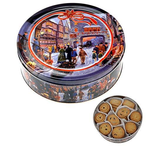 Becky´s Danish Butter Cookies/Dänische Butter Kekse - Gebäck in Weihnachtsdose Crownstreet - 454 g