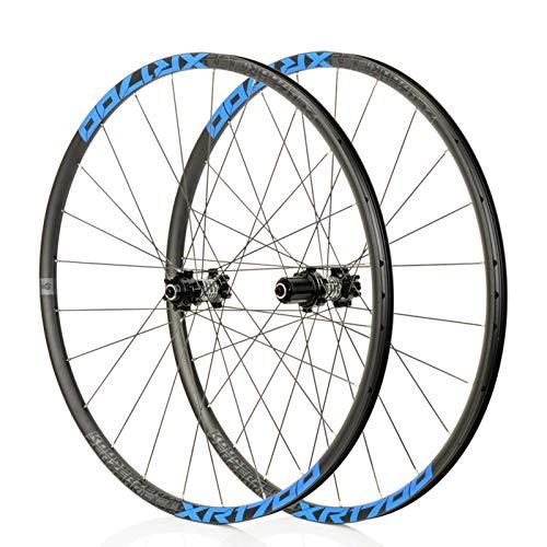 Mountain Bike 26/27,5 Pouces VTT Roues, Classique VTT, Route Racing Jantes en Alliage, NBK F2 / R4, système de 6Pawls, Convient for Les vélos de Route, Course VTT (Noir/Bleu) (Size : 27.5\