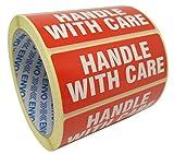 500'Handle With Care' aufkleber selbst Haftetiketten auf Rollen-Größe Heißkleber: permanente...