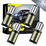 Sidaqi 1156 BA15S P21W Lampadina a LED 5630 33 SMD Bianco 900LM sostituire per Luce di retromarcia freno posizione antinebbia posteriore Fanale parcheggio RV 12-30 V 3,6 W (4 pezzi)