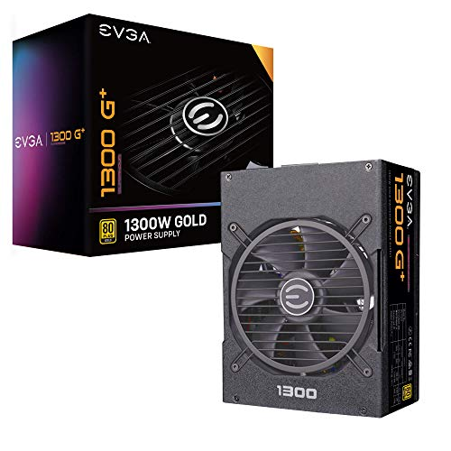 EVGA Supernova 1300 G+, 80+ Gold 1300W, Fully Modular, 10 Year Warranty, Includes Free Power On Self Tester, Power Supply 220-GP-1300-X1