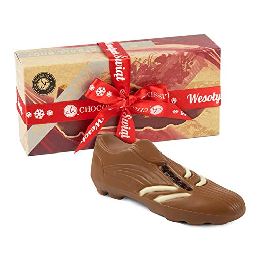 Fußballschuh aus Schokolade als Weihnachtsgeschenk