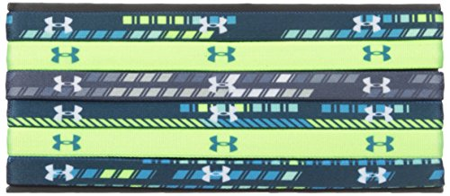 Under Armour Girls Graphic Headbands 6-Pack , True Ink (918)/White , One Size Fits All