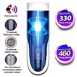 TOOAA Taza de pistón automática masculina Rotación telescópica 460 veces/min y 10 modos Taza de masaje eléctrico Juguete masculino