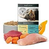 Nassfutter für Katzen 6x85g | Premium-Qualität | 6er-Multi-Pack Huhn & Fisch | gesundes Katzenfutter nass | hoher Fleischanteil | 100% Lebensmittelqualität | getreidefrei, ohne unnötige Zusätze
