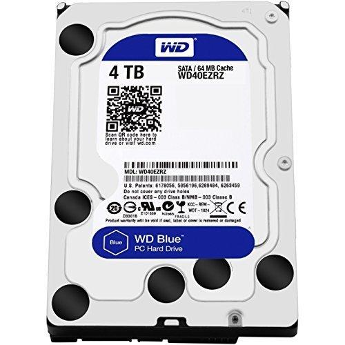 Western Digital Blue - Disco Duro para Ordenadores de sobremesa de 4 TB (5400 RPM, SATA a 6 GB/s, 64 MB de caché, 3,5 pulgadas) (Reacondicionado)