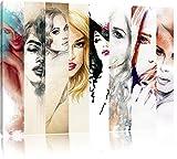 Haar Frisuren Format: 120x80 cm auf Leinwand, XXL riesige Bilder fertig gerahmt mit Keilrahmen,...