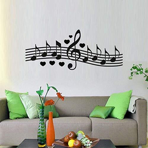 BailongXiao Dekorative Notiz Wanddekoration komponiert EIN Liebeslied Schlafzimmer Wandtattoo 145x58cm