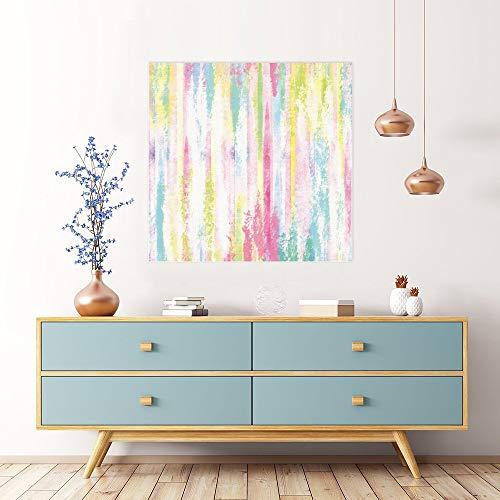 Cuadro moderno de pared sin marca en color de barra vertical acuarela para sala de estar, dormitorio, baño, decoración de pared lista para colgar 40,6 x 40,6 cm