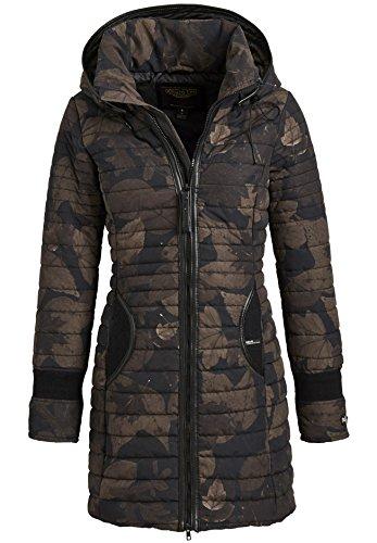 Khujo Daily Parka jas met capuchon, korte jas, gevoerde winterjas