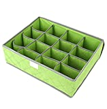<span class='highlight'><span class='highlight'>LAAT</span></span> 30-cell Uncovered Storage Box Drawer Organisers Collapsible Closet Dividers And Foldable Storage Box For Bras Underwear Socks Etc (Green)