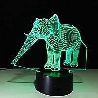 ナイトライト、ナイトランプ、象3D LighingデコレーションフレンズギフトLed Usbキッズギフト子供用ベッドルーム