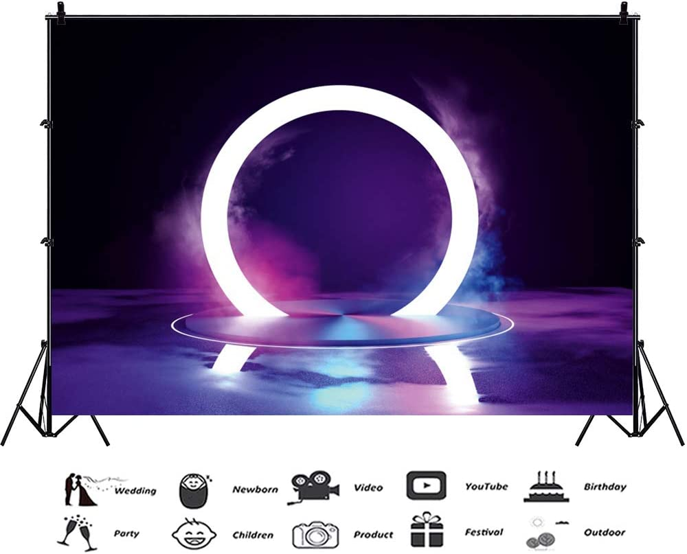 Haoyiyi 10x6.5ft Stage Backdrop for Concert Backdrop Bright Interlaced Lightspots Spotlight Background Photography Photo Lovers YouTube Celebration Display Film Production Wallpaper Decor