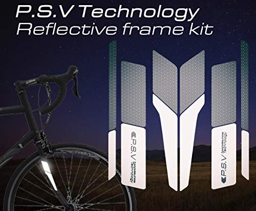 ATPC Japan Reflective Frame Kit A Set of Reflective Labels corresponding to All Kinds of Bicycle Frames Improve Safety of Night Driving of Road Bike, MTB, P.S.V Technology (White)