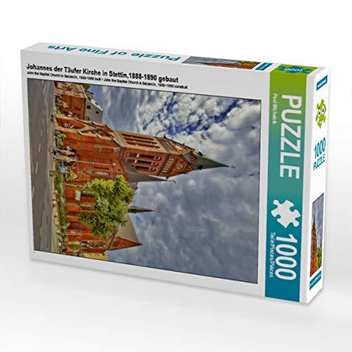 CALVENDO Puzzle Johannes der Täufer Kirche in Stettin,1888-1890 gebaut 1000 Teile Lege-Größe 48 x 64 cm Foto-Puzzle Bild von Paul Michalzik