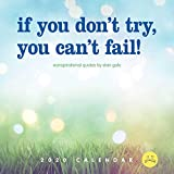 Unspirational 2020 Wall Calendar: if you don't try, you can't fail!