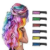 6 Piezas Hair Chalk Peine de Tiza para el Pelo para Niñas y Niños, de...