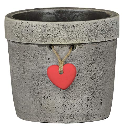 Classic Home and Garden 210019-131 Heart Pot Planter, Large, Natural Cement