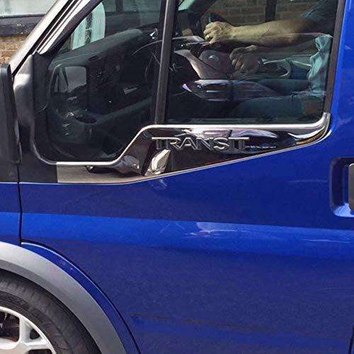 Chrome zijdeur vensterbank cover voor Transit Van [2 stuks]