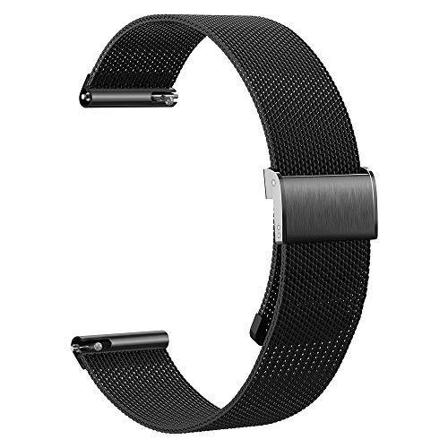 Kobmand Braccialetto Compatibile Amazfit GTR 47MM Cinturino,Cinturino per Orologio In Maglia Di Acciaio Inossidabile Da 22 mm per Amazfit GTR 2e/GTR 2/Smartwatch GTR 47 mm (Nero)