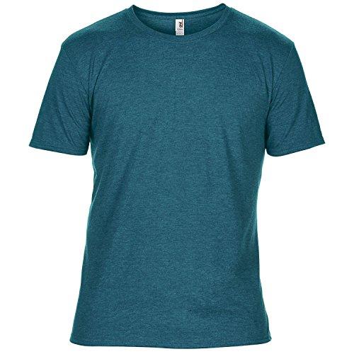 Anvil - T-Shirt à Manches Courtes - Homme (2XL) (Bleu Galapagos chiné)