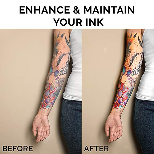 Best Natural Tattoo Cream for Before, During & Post Tattoo Care | Lubricates & Moisturizes | Tattoo Color Enhancement & Brightener Ointment | New & Older Tattoo Aftercare Cream