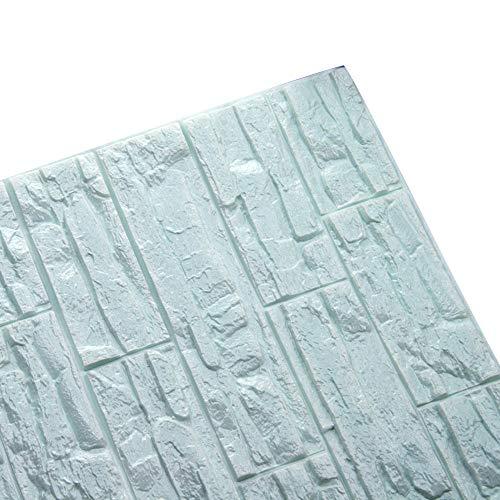 XLGX Ziegelsteinmuster-Wandaufkleber des dreidimensionalen Effektes 3D kreatives Aussehen schöne Wandaufkleber Wohnzimmer Schlafzimmerdekorationstapete (C)
