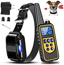 Moclever Shock Collar for Dogs, Upgraded Dog Training Collar with Remote 2600FT, Pet Trainer Collar IP67 Waterproof, Rechargeable w/Beep, 99 Levels Vibration Shock Modes for Small, Medium, Large