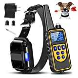 Moclever Shock Collar for Dogs, 2020 Upgraded Dog Training Collar with Remote 2600FT, Pet Trainer Collar IP67 Waterproof, Rechargeable w/Beep, 99 Levels Vibration Shock Modes for Small, Medium, Large