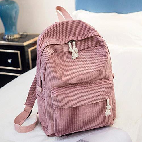 NVT Corduroy Women Backpack School Bag For Teenage Girls Women Travel Rucksack,1241f