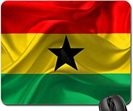 Mouse Pads - Flag Ghana Red Yellow Green Black Star