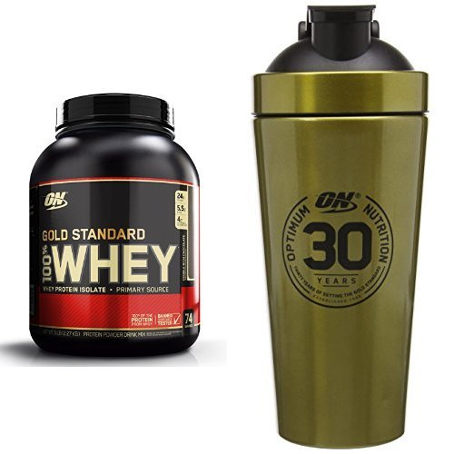 Optimum Nutrition Gold Standard Whey 2.27kg Double Rich Chocolate with Gold Shaker