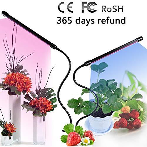 Lampara De Plantas 60 LED 24W Lamparas Para Jardin Con Rojo Azul Luz 3/6/12H Temporizador Adaptador USB Para Plantas De Interior Flor Vegetal