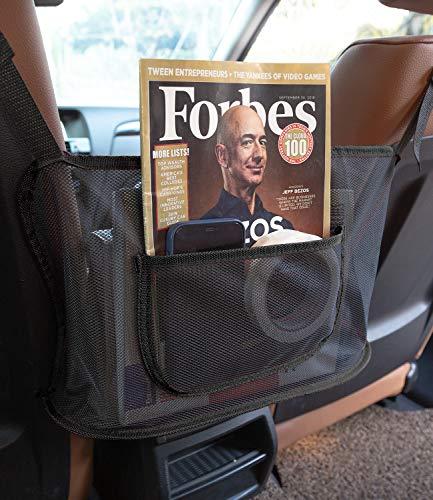 BIERDORF Car Net Pocket Handbag Holder Purse Holder For Car Car Seat Organizer Car Mesh Organizer Used To Store Wallets and Document BagsBlack